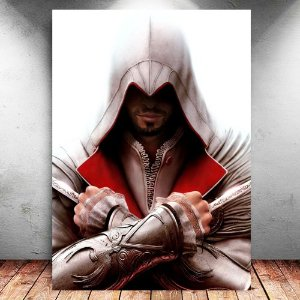 Placa Decorativa MDF Ezio - Assassin's Creed - PMDF332
