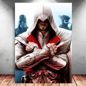 Placa Decorativa MDF Ezio - Assassin's Creed - PMDF333