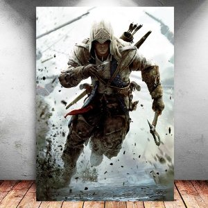 Placa Decorativa MDF Connor - Assassin's Creed - PMDF336