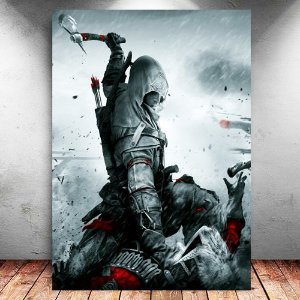 Placa Decorativa MDF Connor - Assassin's Creed - PMDF338