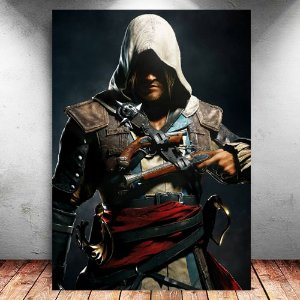 Placa Decorativa MDF Edward - Assassin's Creed - PMDF340