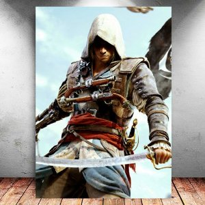 Placa Decorativa MDF Edward - Assassin's Creed - PMDF341