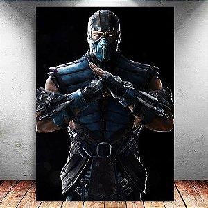 Placa Decorativa MDF Sub-Zero - Mortal Kombat - PMDF344