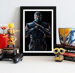 Quadro Decorativo Sub-Zero - Mortal Kombat - QV344