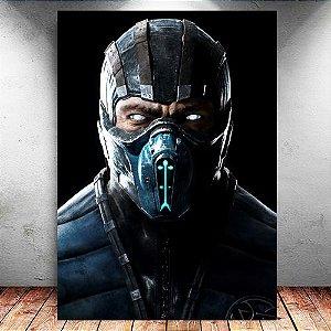 Placa Decorativa MDF Sub-Zero - Mortal Kombat - PMDF346