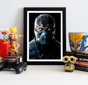 Quadro Decorativo Sub-Zero - Mortal Kombat - QV346