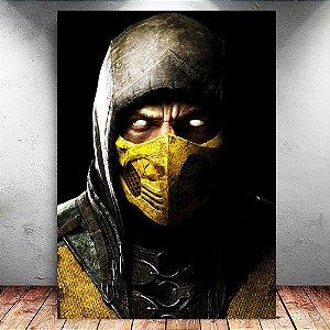 Placa Decorativa MDF Scorpion - Mortal Kombat - PMDF345