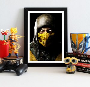Quadro Decorativo Scorpion - Mortal Kombat - QV345