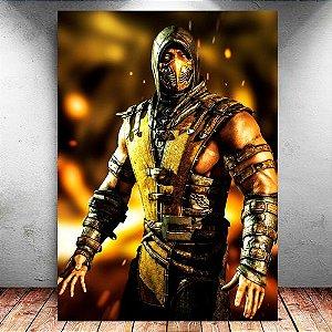 Placa Decorativa MDF Scorpion - Mortal Kombat - PMDF350