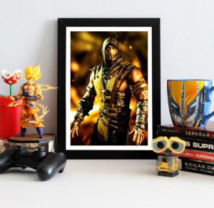 Quadro Decorativo Scorpion - Mortal Kombat - QV350