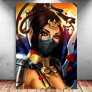 Placa Decorativa MDF Kitana - Mortal Kombat - PMDF347