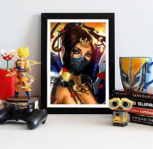 Quadro Decorativo Kitana - Mortal Kombat - QV347