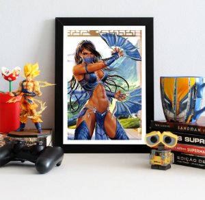 Quadro Decorativo Kitana - Mortal Kombat - QV349