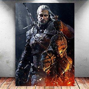 Placa Decorativa MDF Geralt - The Witcher - PMDF351