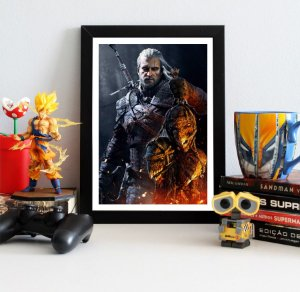 Quadro Decorativo Geralt - The Witcher - QV351