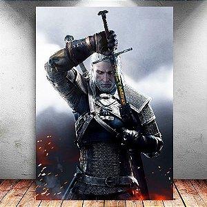Placa Decorativa MDF Geralt - The Witcher - PMDF352
