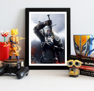 Quadro Decorativo Geralt - The Witcher - QV352