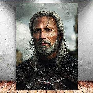Placa Decorativa MDF Geralt - The Witcher - PMDF354