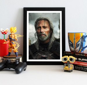 Quadro Decorativo Geralt - The Witcher - QV354