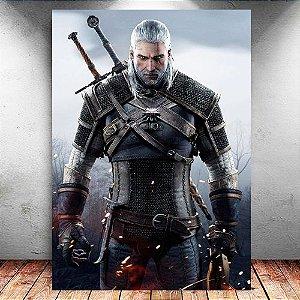 Placa Decorativa MDF Geralt - The Witcher - PMDF355