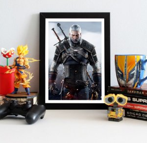 Quadro Decorativo Geralt - The Witcher - QV355