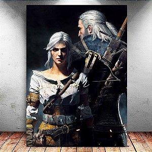 Placa Decorativa MDF Geralt e Ciri - The Witcher - PMDF356