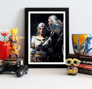 Quadro Decorativo Geralt e Ciri - The Witcher - QV356