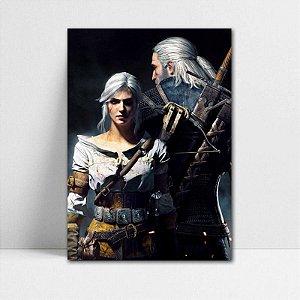 Poster A4 Geralt e Ciri - The Witcher - PT356