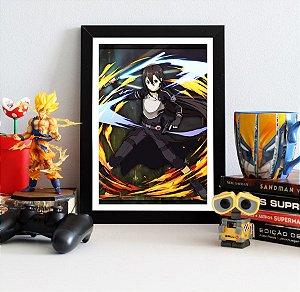 Quadro Decorativo Kirito - Sword Art Online - QV164