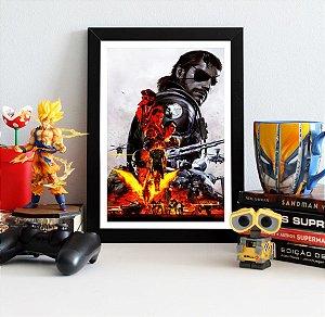 Quadro Decorativo Venon Snake - Metal Gear - QV363