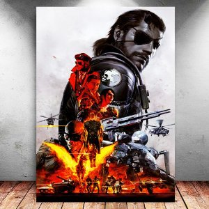 Placa Decorativa MDF Venon Snake - Metal Gear - PMDF363