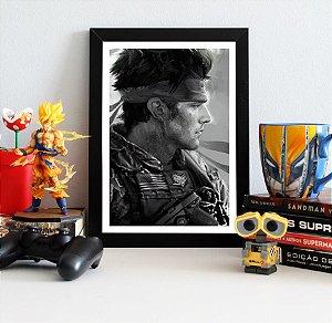 Quadro Decorativo Solid Snake - Metal Gear - QV364