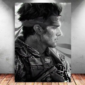 Placa Decorativa MDF Solid Snake - Metal Gear - PMDF364