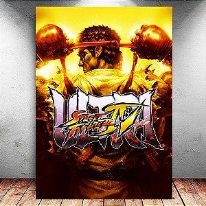 Placa Decorativa MDF Ryu - Street Fighter - PMDF368