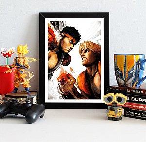 Quadro Decorativo Ryu e Ken - Street Fighter - QV369