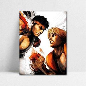 Poster A4 Ryu e Ken - Street Fighter - PT369