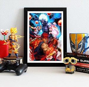 Quadro Decorativo Ryu e Akuma - Street Fighter - QV374