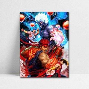 Poster A4 Ryu e Akuma - Street Fighter - PT374