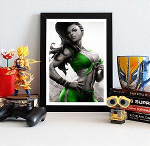 Quadro Decorativo Laura - Street Fighter - QV375