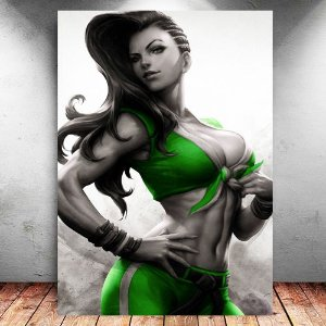 Placa Decorativa MDF Laura - Street Fighter - PMDF375