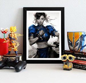 Quadro Decorativo Chun-Li - Street Fighter - QV376