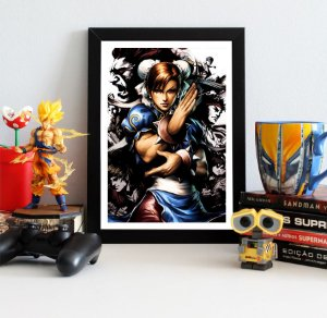 Quadro Decorativo Chun-Li - Street Fighter - QV379
