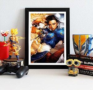 Quadro Decorativo Chun-Li - Street Fighter - QV380