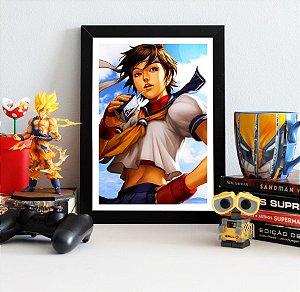 Quadro Decorativo Sakura - Street Fighter - QV381
