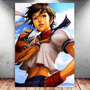 Placa Decorativa MDF Sakura - Street Fighter - PMDF381