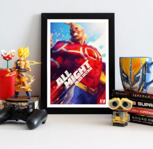 Quadro Decorativo All Might - My Hero Academia - QMYH01