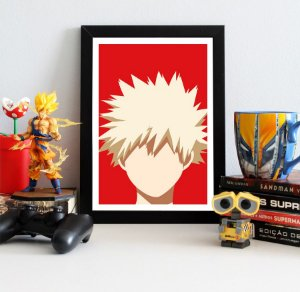 Quadro Decorativo Bakugo - My Hero Academia - QV190