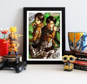 Quadro Decorativo Eren e Levi - Attack on Titan - QV77