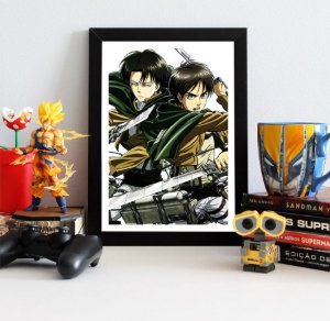 Quadro Decorativo Eren e Levi - Attack on Titan - QV78