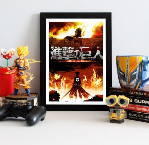 Quadro Decorativo Shingeki no Kyojin - Attack on Titan - QV75